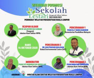 Webinar promosi sekolah lestari